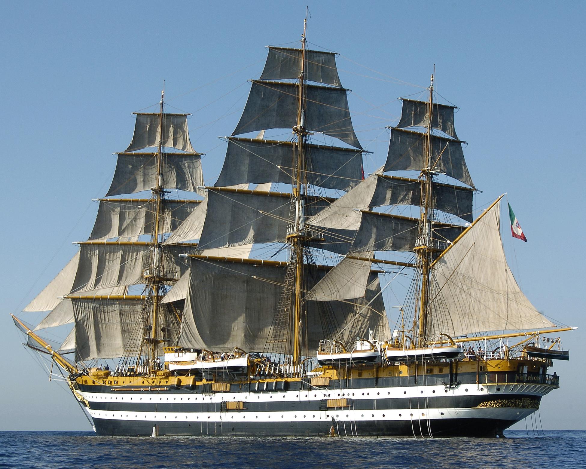 Ischia News ed Eventi - Marina Militare: Nave Amerigo Vespucci in sosta a  Castellammare di Stabia. La nave torna in visita nella città campana dove  fu costruita 86 anni fa