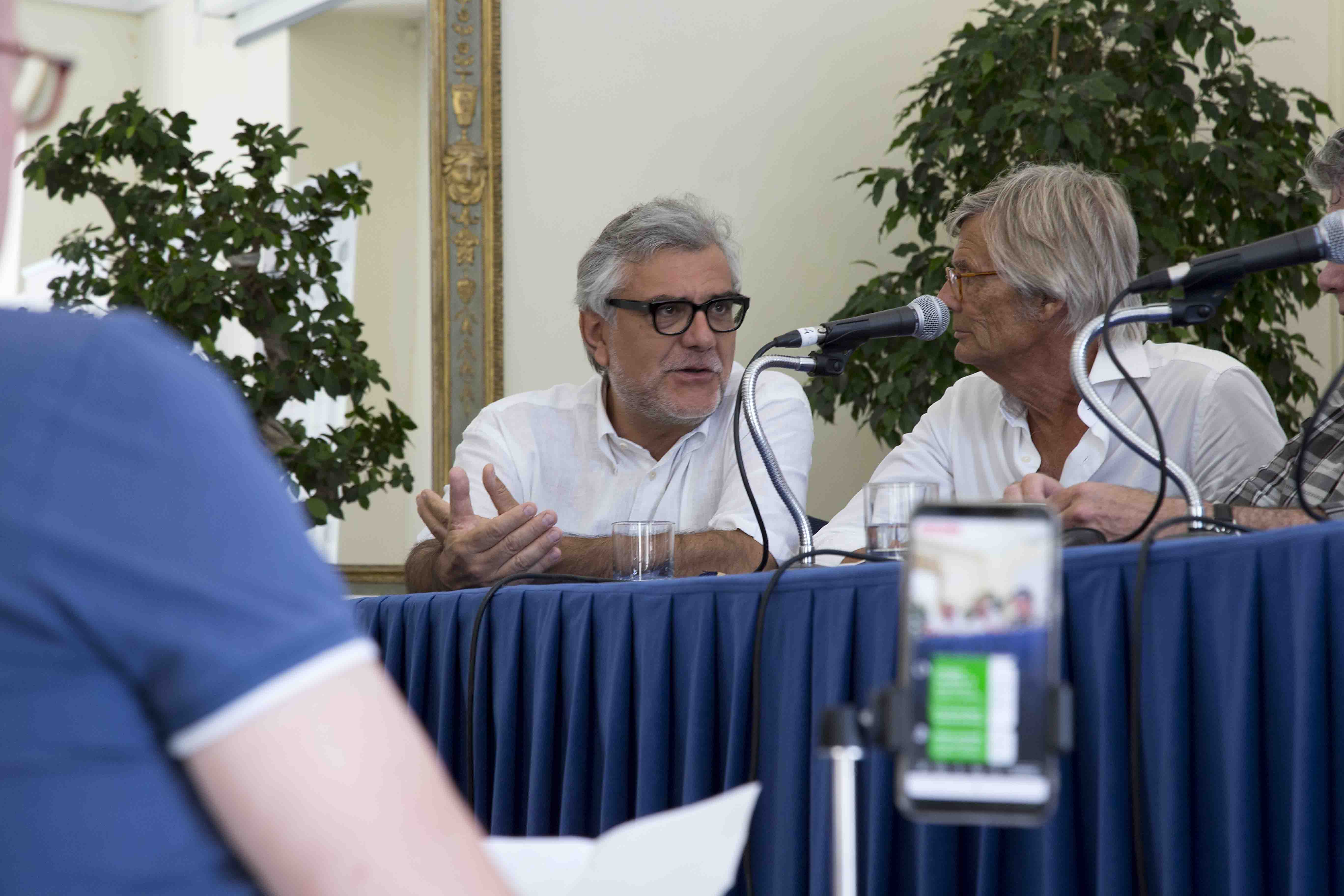 Ischia Global Fest - World Script Market - De Cataldo e August  - conferenza stampa del 17 Luglio