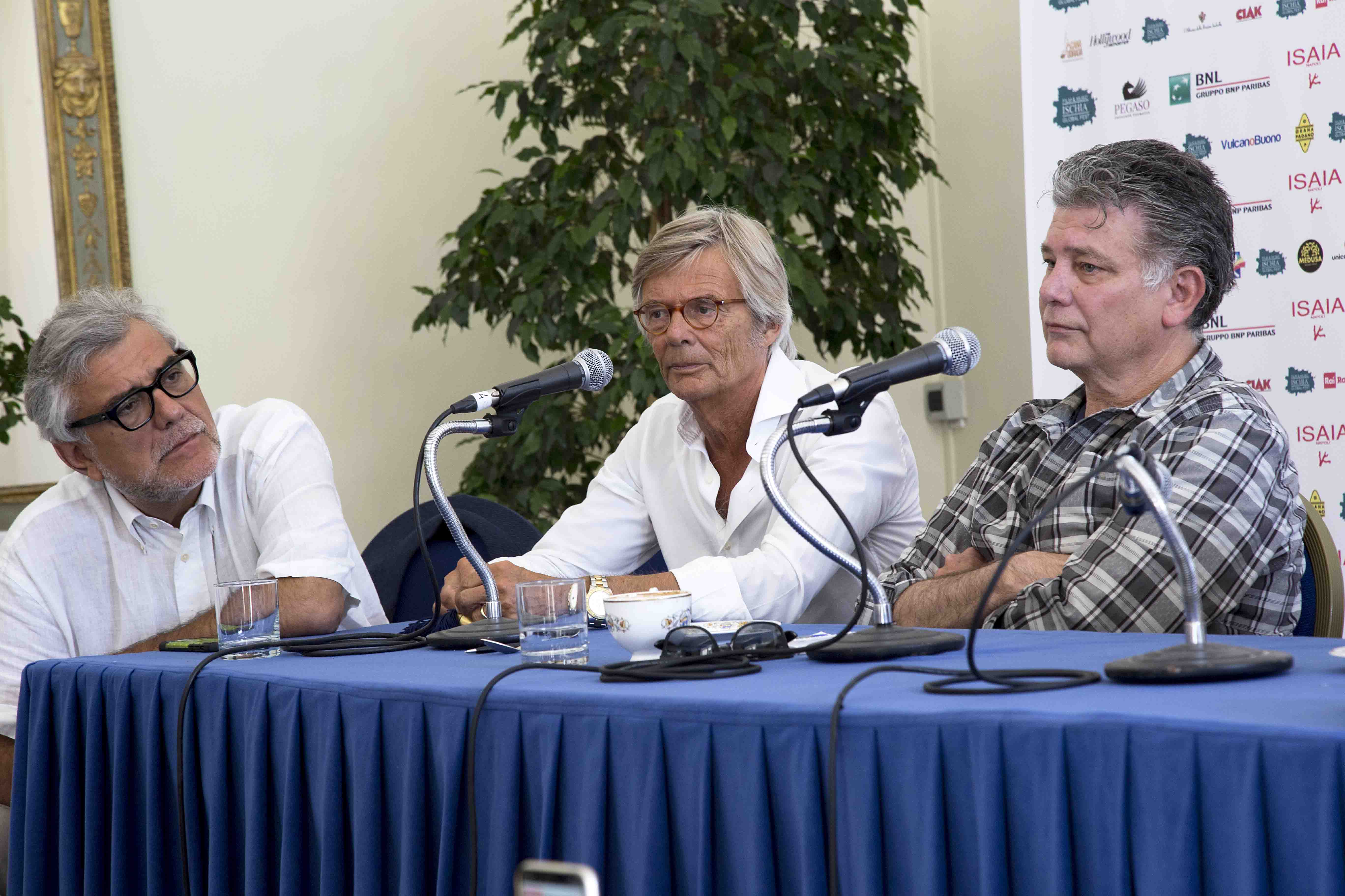 Ischia Global Fest - World Script Market - De Cataldo, Zaillian e August  - conferenza stampa del 17 Luglio