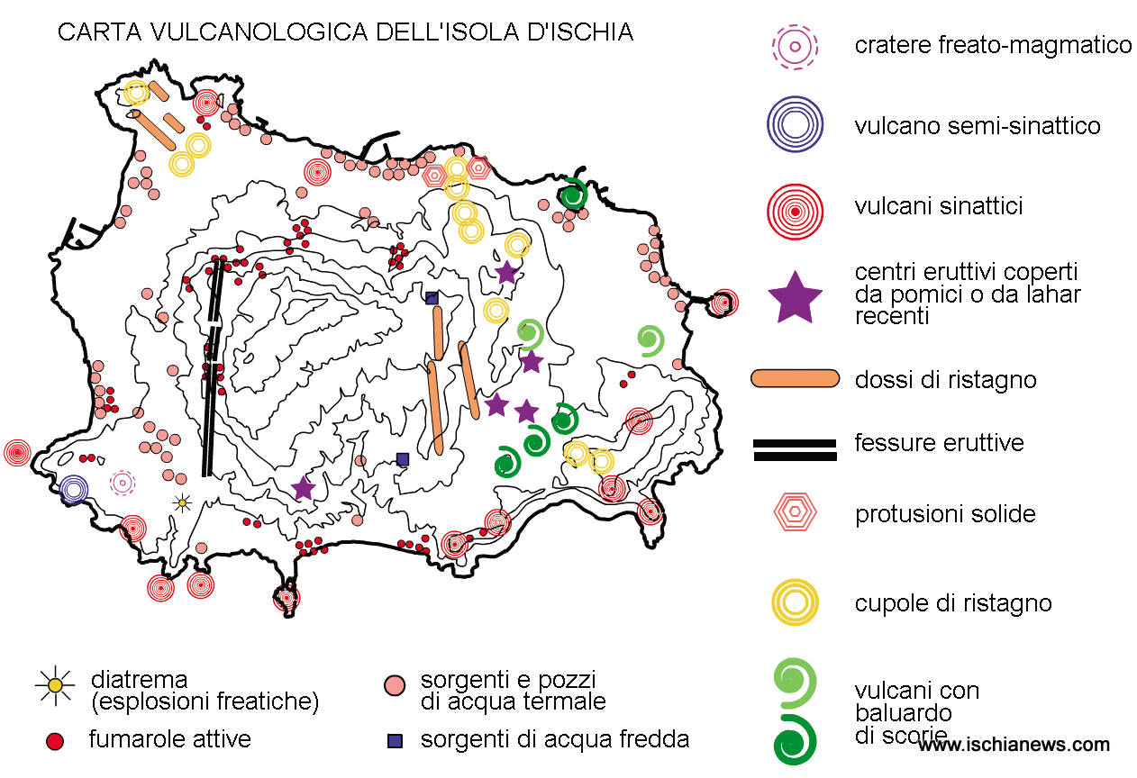 Mappa geotermica dell'isola d'Ischia